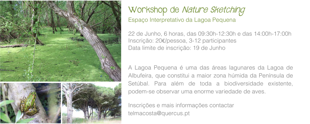 Workshops Natural Sketching lagoa