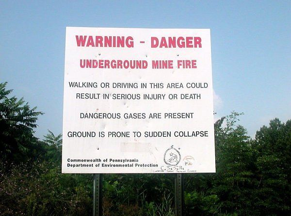 coal fire warning