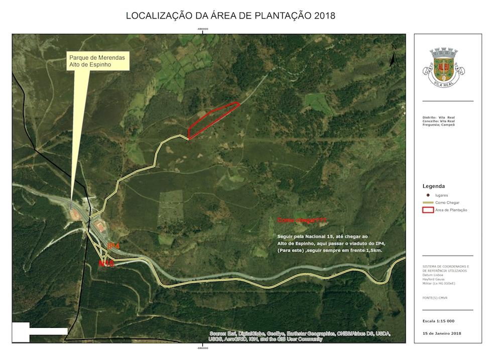 mapa local da plantação